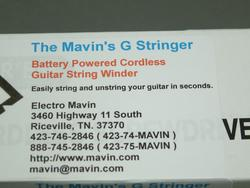 The Mavin's G Stringer Cordless Guitar String Power Winder