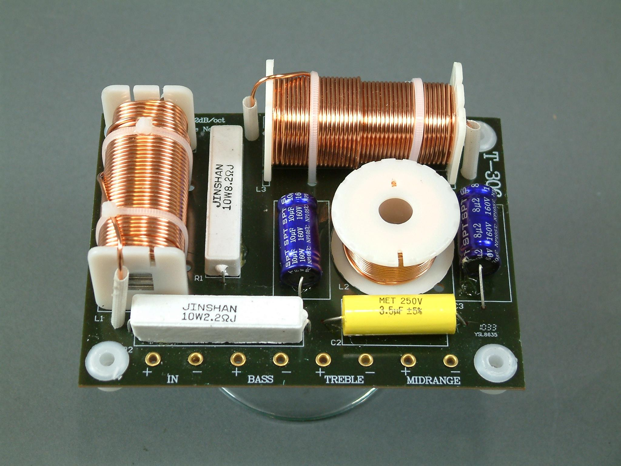 em t 306_1 em t 306 three way crossover high power 1000 watts rms a pair 3-Way Wiring Diagram Multiple Lights at mifinder.co