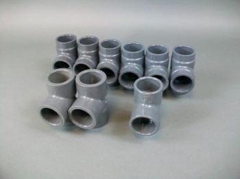 """Lot of 9 Miscellaneous 1 1/4"""" SCH-80 Tee Fitting PVC Socket"""