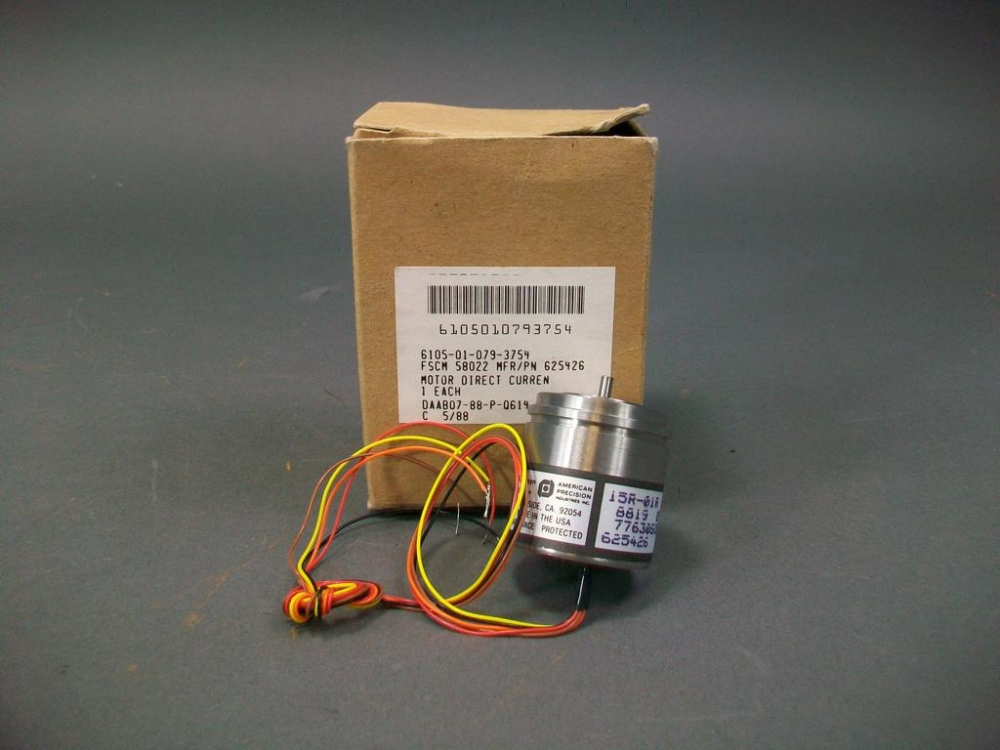American Precision Direct Current Motor 625426 New Old