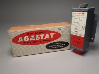 Agastat Miniature Time Delay Relay 2112-D-H1 28V DC Timing 1 Sec. - New