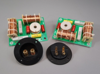 3 way Crossover Pair High Power 1000 watts RMS 8 Ohm 12 dB & Round Terminal Cups