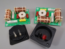 3 way Crossover Pair High Power 1000W RMS 8 Ohm 12 dB & Square Terminal Cup