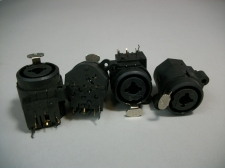 "Lot of (4) Neutrik NCJ6FI-S Combo XLR 1/4"" Panel Mount New Old Stock"