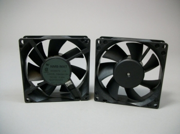 Set of (2) NMB-MAT DC 12V Brushless Fans FBA08A12H New Old Stock