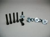 """Speaker Hardware Kit 6 Tee Nuts w/ 6 Socket Caps 1"""" 8-32 Screws"""