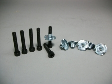 "Speaker Hardware Kit 6 Tee Nuts w/ 6 Socket Caps 1"" 8-32 Screws"