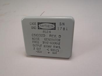 Raytheon Thermal Noise Generator 10001-2469424-1 6625-00-931-2484 1KHZ-600KHZ