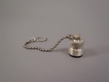 Lot of (5) Amphenol Cap and Chain for Plugs 83-1BC -New Old Stock