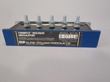 Twinput Voltage Regulator Model 40178 A-07114 12/24 Volt Sure Power Product NOS