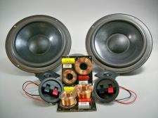 8 ohms 8 inch 2 Way Speaker Kit pair 125 watts