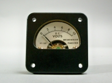Aircraft Panel Indicator DC Voltmeter 10V Phaostron MR13W010DCVVR 611-507 - New