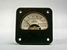Aircraft Panel Indicator DC Voltmeter 10V Phaostron MR13W010DCVVR 611-507 - New