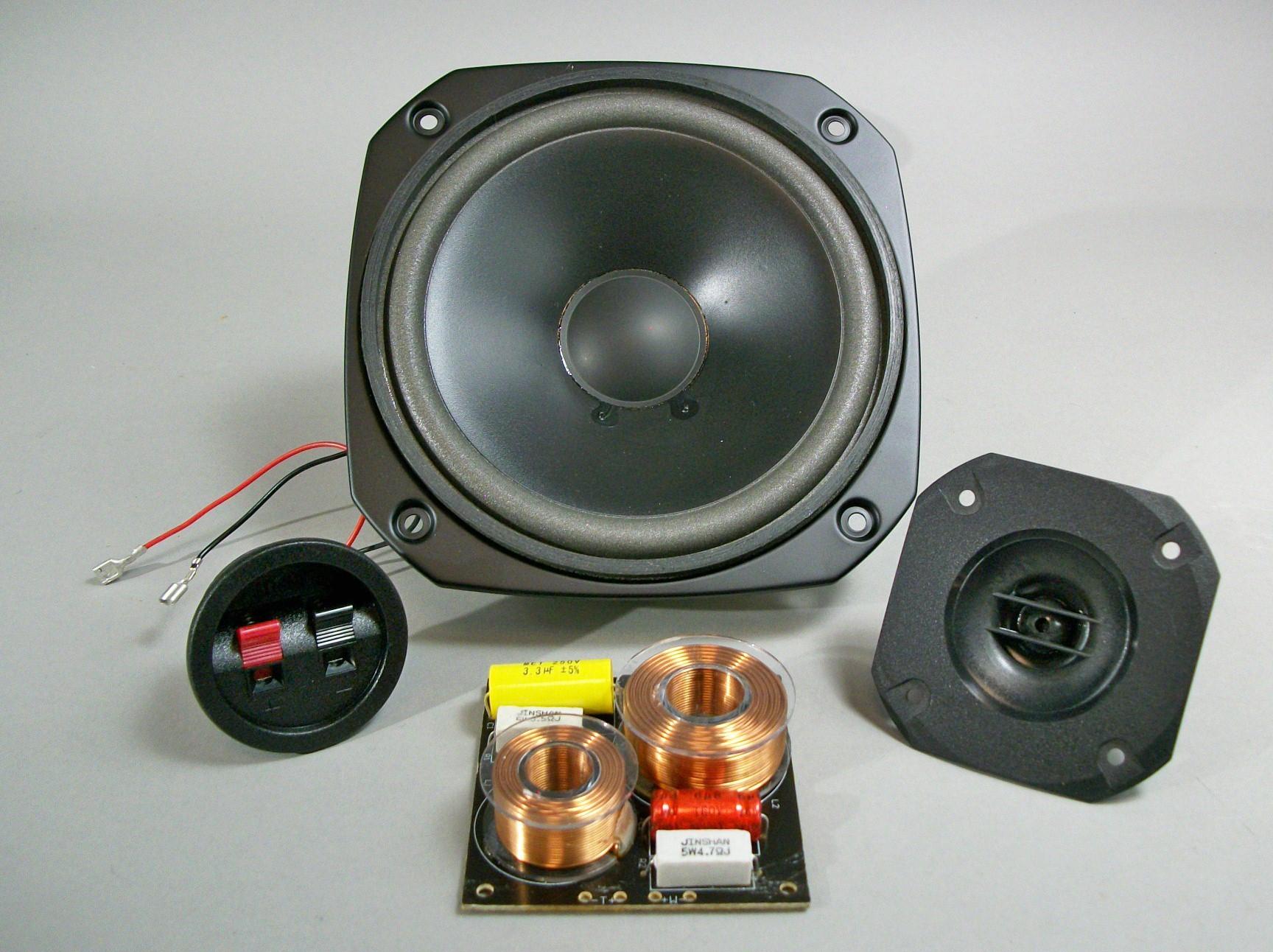 8 ohm 8 inch 2 Way Speaker Kit pair 100 watts RMS
