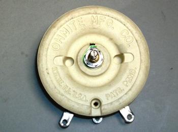 Ohmite RP301SD250KK Model L Rheostat Potentiometer 25OHMS - NOS