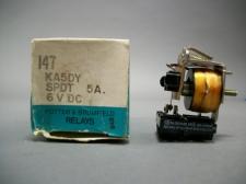 AMF Potter & Brumfield KA5DY-6VDC Relay 5A  - New