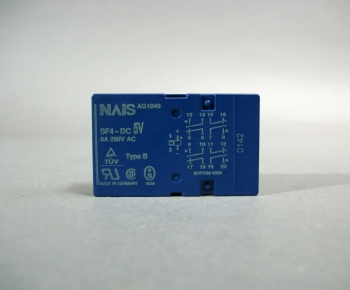 SF4-DC5V NAIS Polarised Safety Relay 6A 250V AC Type B - New