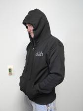 DISH® SHOWTIME® Black Zip-up Hoodie Sz: Medium