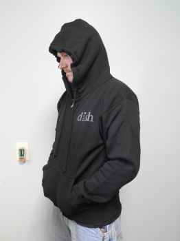 DISH® SHOWTIME® Black Zip-up Hoodie Sz: Medium