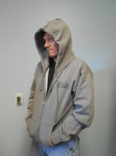DISH® SHOWTIME® Gray Zip-up Hoodie Sz: Medium