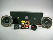 Boston Acoustics 4.5 inch Dual Woofer Center Kit W/ Black Cabinet