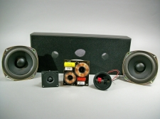 Boston Acoustics 4.5 inch Dual Woofer Center Kit W/ Black Cabinet