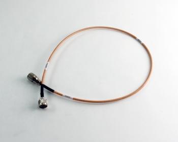 "Huber + Suhner 34"" RG142 RF Cable Assy N Plug to UHF PLug"