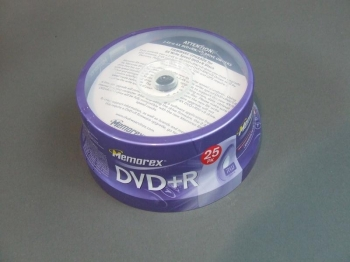 DVD +R Memorex Blank DIsks 100 Pieces 4 Spindles of 25