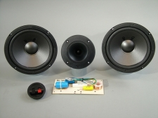 "High End Speaker Kit 6 1/2"" ESS Woofers Cerwin Vega Horn Tweeter Boston Acoustics Dual 2 Way Crossover"