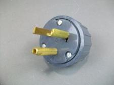 Lot of 4 GE Straight Blade Grounding Plug GE4327-9 *Gray*