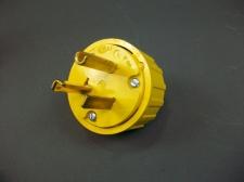 Lot of 4 GE Straight Blade Grounding Plug GE4327-9 *Yellow*