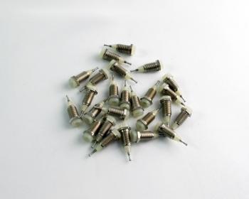 (25) Cannon / Pomona / ITT White Mini Tip Jack Terminals