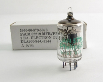 Lot of 100 - Philips ECG JAN 5726 Twin Diode Vacuum Electron Tube  7-pin Miniature