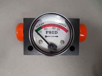 "Orange Research 1201PG-2-2A Dial Indicating Differential Gauge 1/8"" NPT Ports"