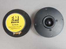 4 Ohm Pair TL10-21 Silk Dome 75 Watt RMS Tweeter