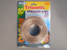 50ft Trisonic TS-18-50 Speaker Wire 18 Gauge Polarized Wire Clear Insulation NEW