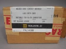 Square D FAL14100 Molded Case Circuit Breaker 1 Pole 50/60 Hz 125VDC 100 AMP NEW