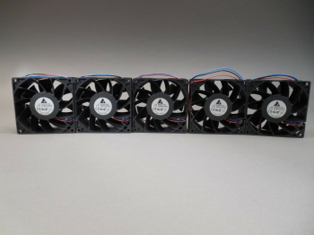 Lot of 5 Delta FFB0912EHE DC Fan 12VDC 92x38mm