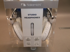 Nakamichi Folding Headphone White Pearlish and Chrome