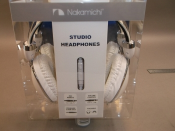 Nakamichi Folding Headphone White Pearlish and Chrome